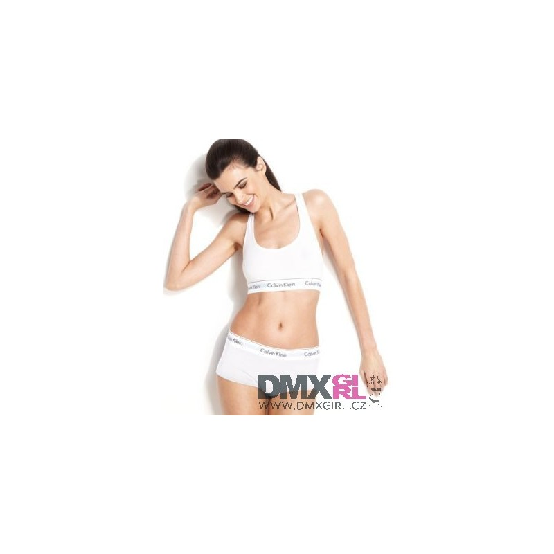 CALVIN KLEIN dámské bílé boxerky F3788E s gumou v pase - DMXgirl.cz db1759f2d7