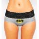 PINK HERO šedé kalhotky Batman s černou krajkou