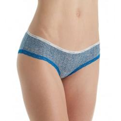 Calvin Klein luxusní modro-bílé kalhotky Hipster D3448