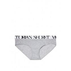 VICTORIA S SECRET šedivé dámské kalhotky Bold Logo Hiphugger Panty. Skladem db05c7723f