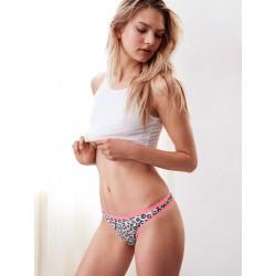 Victoria's Secret Thong Panty Leopard s růžovým lemováním